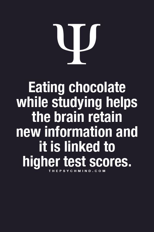Psychology Facts -  get some chocolate!!