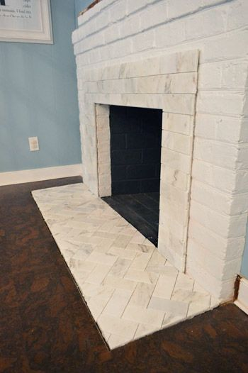 Herringbone Fireplace Hearth And Mantels On Pinterest