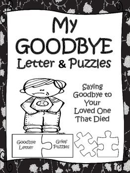 Writing a goodbye letter to someone who died