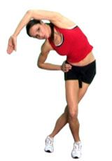 This is a great stretch for reducing tightness in the Iliotibial band - a long thick strip of fascia running down the outside of the thigh.   {loadposition position-content1} Teaching Points  Stand with the leg to be stretched behind the other. Lean over to the non-stretching side. Push the...