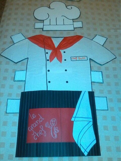 1000 images about disfraz cocinero on pinterest paper for Material para chef