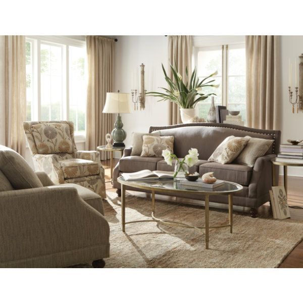 Style Collection The Nailhead Trim Was Reason Enough To Name This Pewter Living Room