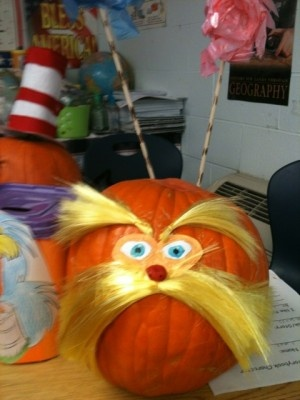 This Lorax speaks for the gourds. From O'Neal Elementary School.