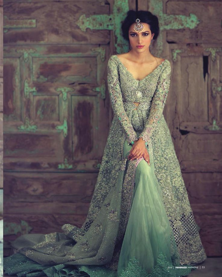 Mint green bridal lehenga. Indian bridal fashion