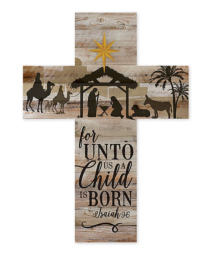 Look at this #zulilyfind! 'A Child Is Born' Cross Wall Sign by P. Graham Dunn #zulilyfinds