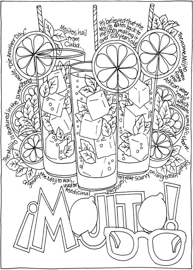 Creative Haven Happy Hour A Wine Beer And Cocktails Coloring Book Doverpublications Coloring Pages Coloring Books Free Coloring Pages