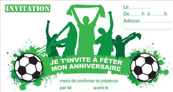 Carte D Invitation Anniversaire Foot Gratuite A Imprimer New Invitation Anniversaire S Invitation Anniversaire Carte Anniversaire Carte Invitation Anniversaire