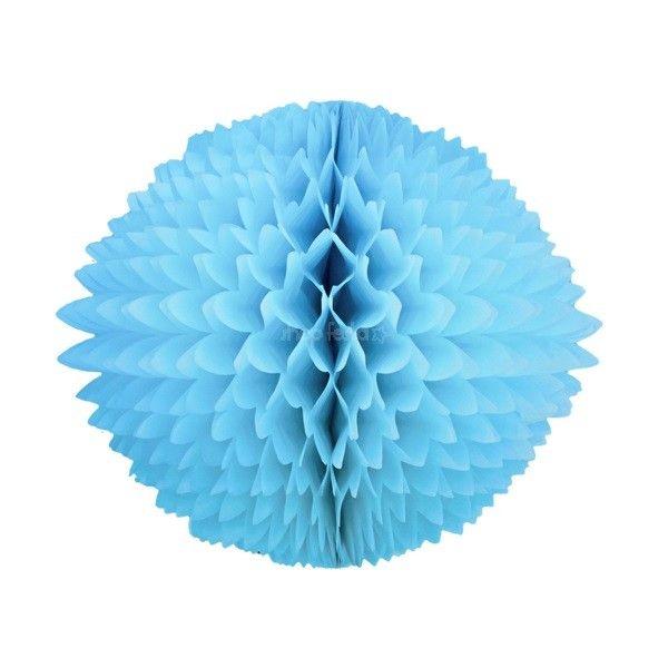 Pom Pom de Seda Azul Claro - 58 cm