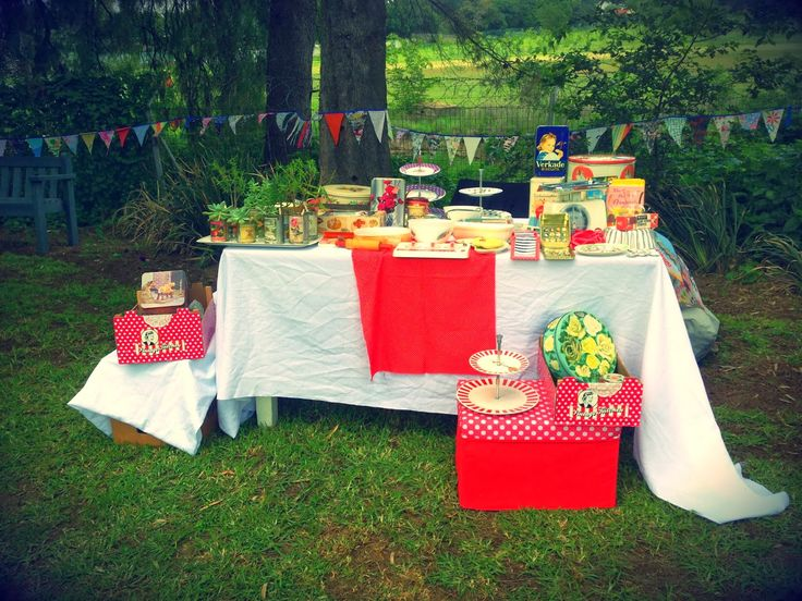 The Vintage Kitchen stall at a market - retro delights!