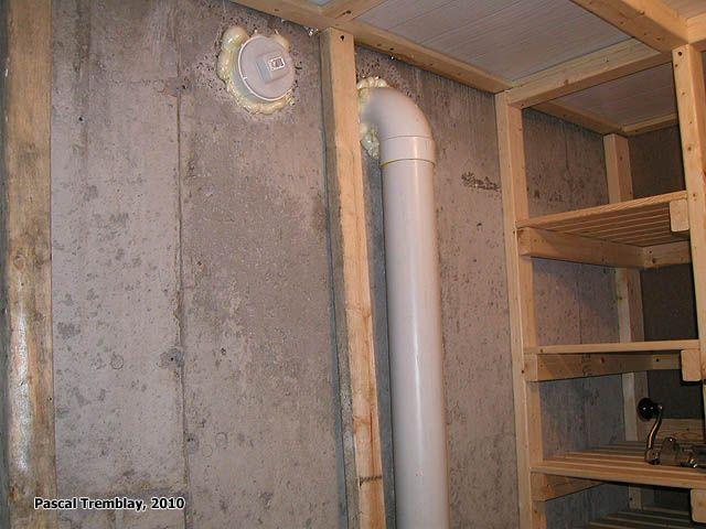 Chambre froide - Tuyaux de PVC - Conservation des aliments en Chambre froide. Instructions: http://www.france-jardinage.com/chambre-froide/chambre-froide.html