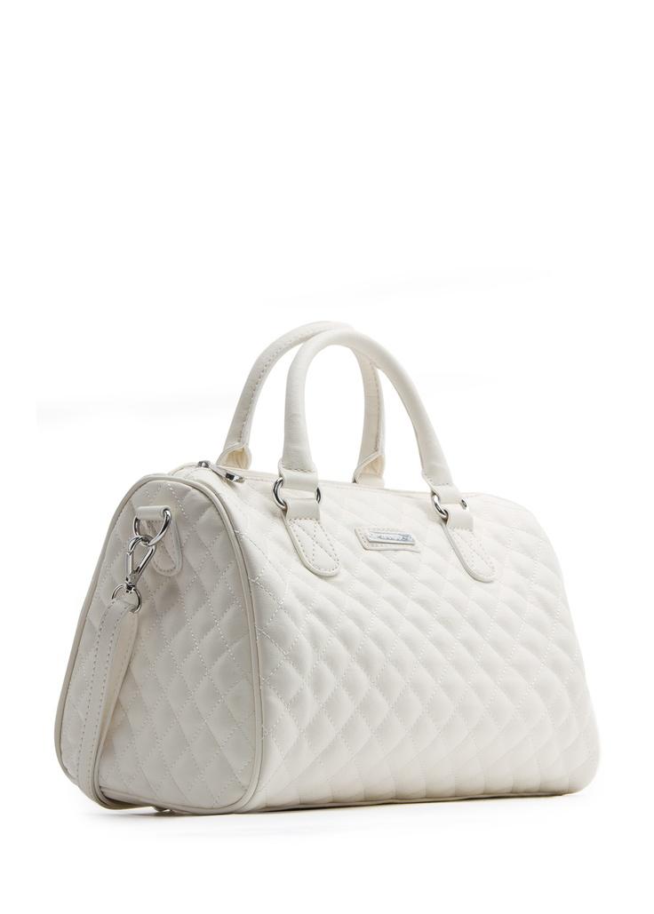 MANGO - BAGS - Quilted bowling handbag