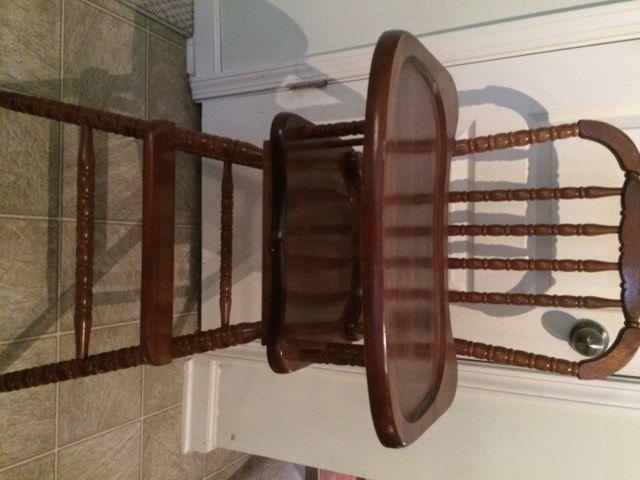 Vintage Wooden High Chair, Jenny Lind, Antique High Chair, Vintage High Chair, Custom Painted High Chair, 1st birthday, Smashcake, Highchair by TheKristKorner on Etsy