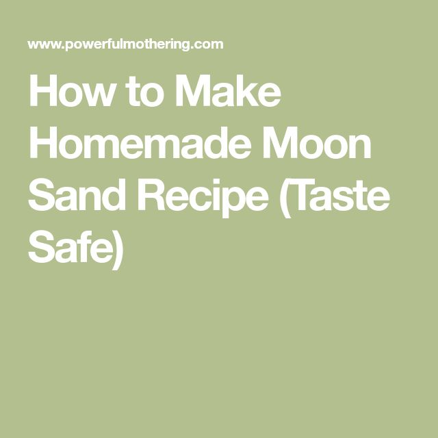 how to make diy moon sand