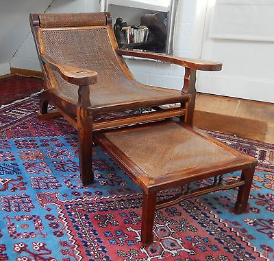 Antique chinese #asian #lounge opium recliner plantation #chair with foot rest,  View more on the LINK: 	http://www.zeppy.io/product/gb/2/262666702361/