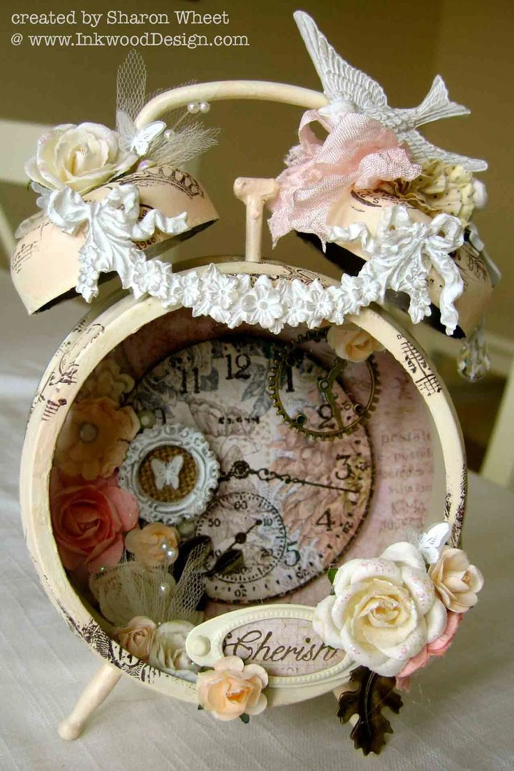 Designs by Sharon: Assemblage Clock