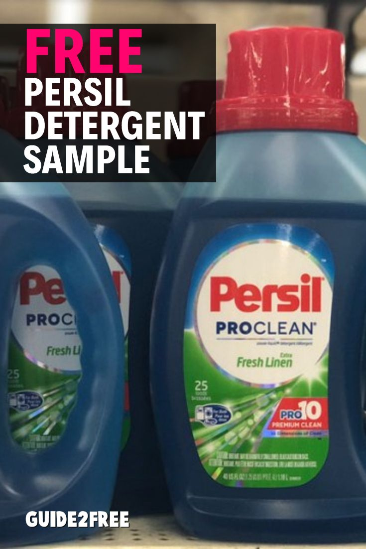 Free Sample Of Persil Proclean Laundry Detergent Free Stuff By