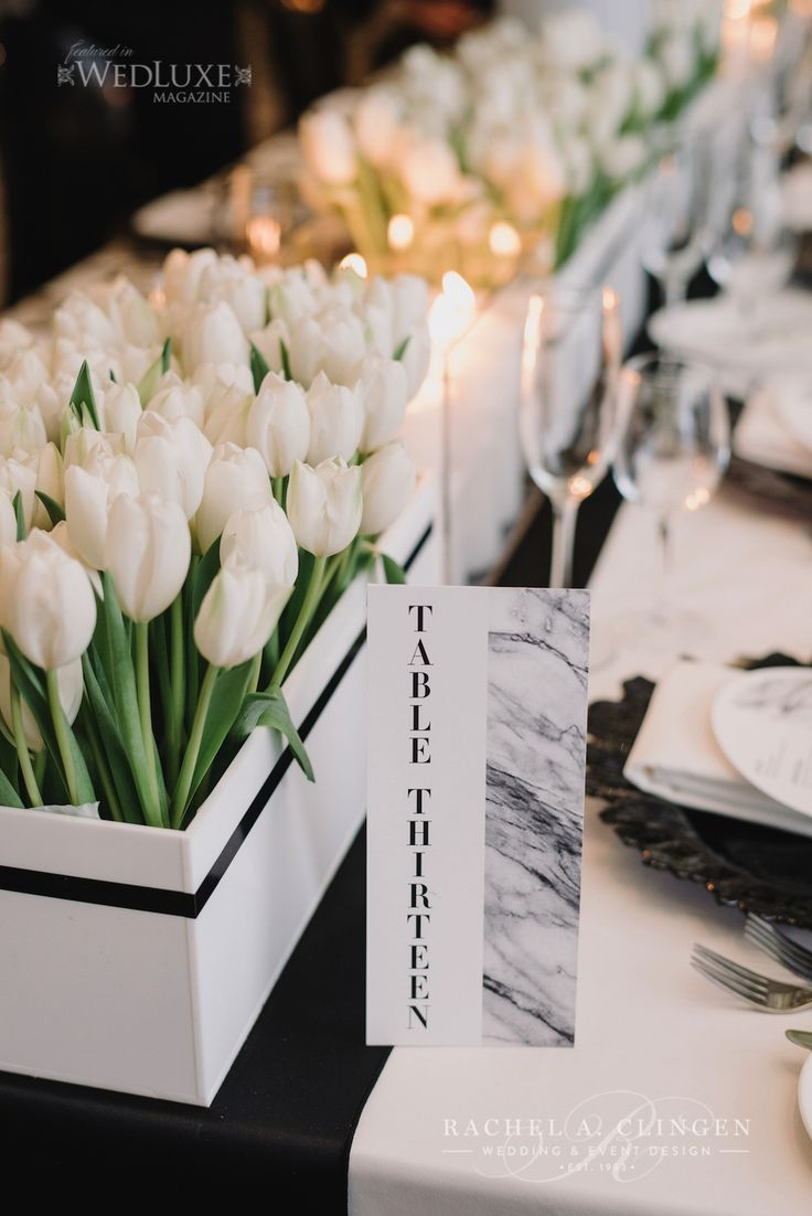 Chic Modern Schwarzweiß-Hochzeit bei einem König West – Hochzeitsdeko Toronto …   – Hanson wedding