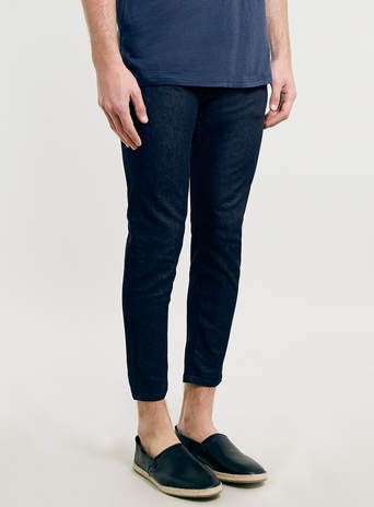LUX INDIGO CROPPED JEANS