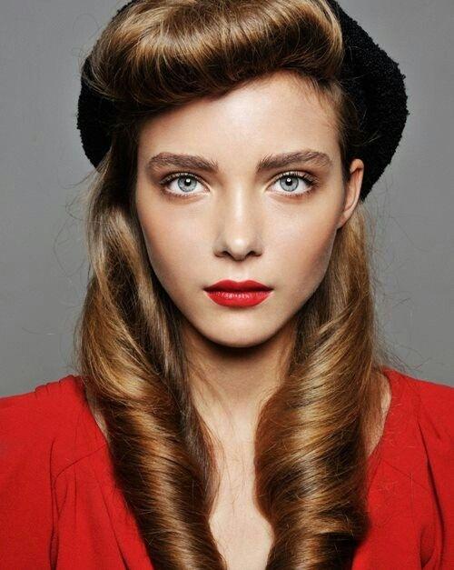 #retro #pinup #hairdo #hairstyle #fashion #vintage #makeup #waves #editorial #hair #makeup