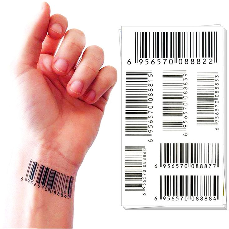 Temporary Tattoo Body Art, Nu Era Barcode Designs, Flash Tattoo Sticker Keep 3-5 days Waterproof 17*10cm