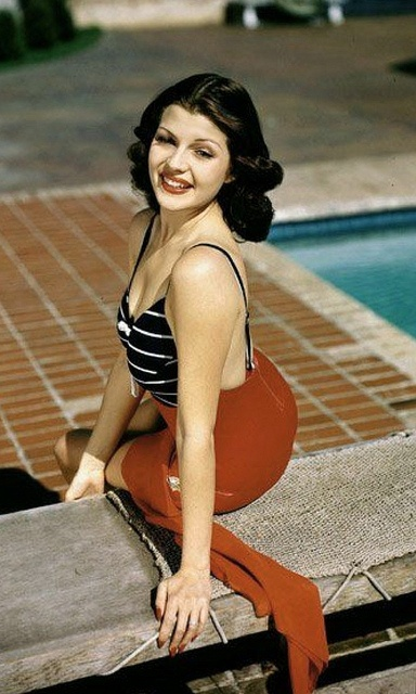 Rita Hayworth Natural Hair Color