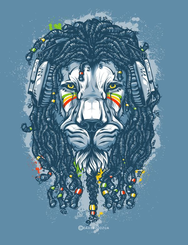 Jah On Behance Rasta LionRasta
