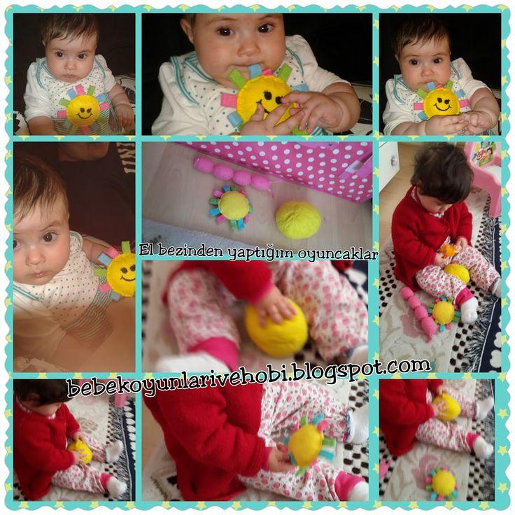 Bebek oyunları ve hobi: renkli bulasik bezlerinden oyuncak yapımı