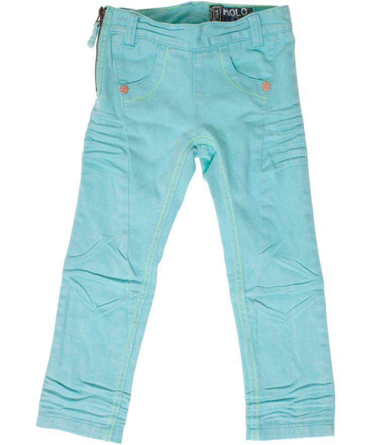 Molo pastel green colored jeans for girls. molo.en.emilea.be