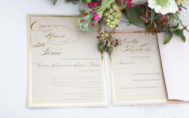 Fairytale wedding invitations | Esther Gallarday Photography | see more on: http://burnettsboards.com/2014/04/dream-fairytale-bridal-inspiration/