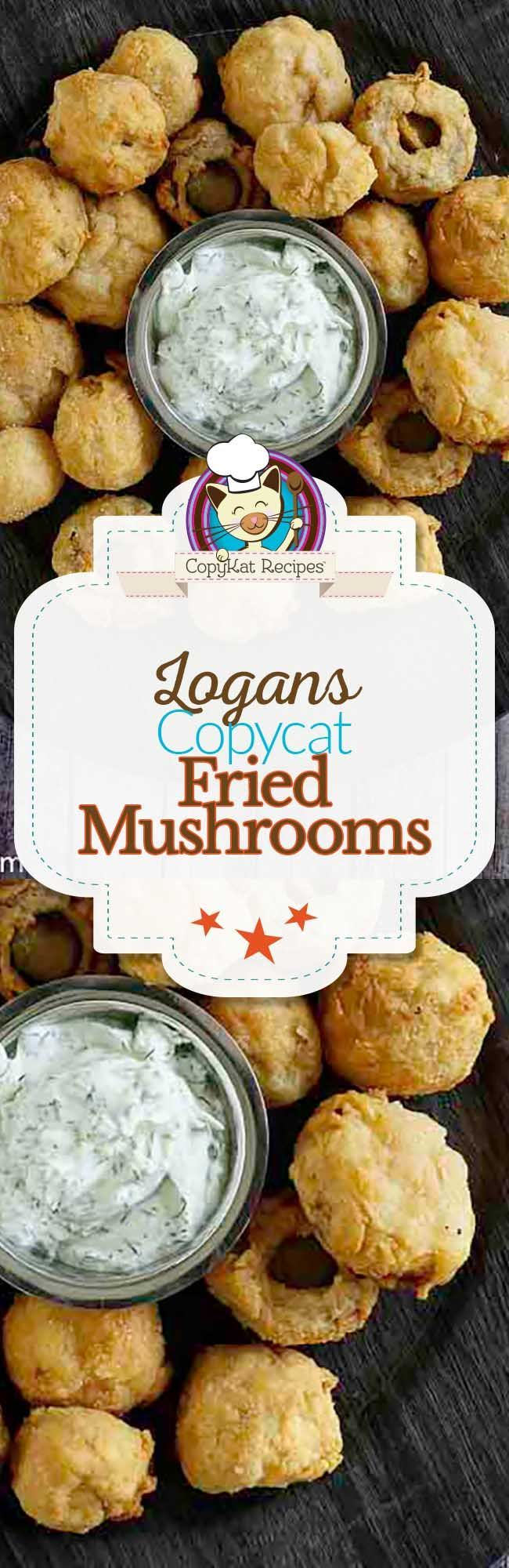 You can recreate copycat Logans Roadhouse Fried Mushrooms at home with this appetizer recipe.