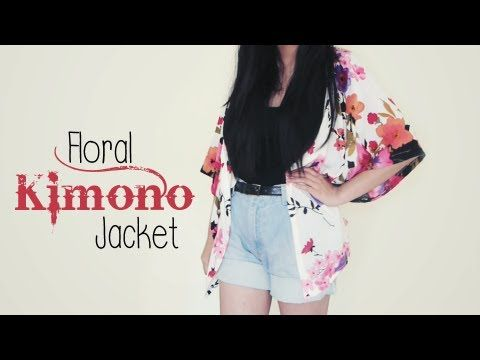 DIY ✂ Floral Kimono Jacket (Easy)