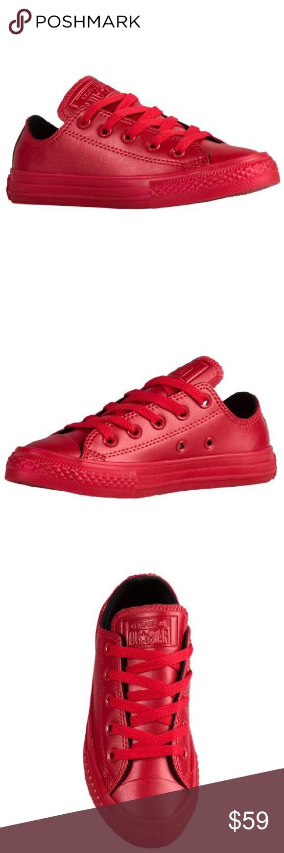 CONVERSE ALL RED WOMENS SIZE 7 SHOES NEW Shoes are a size 5 juniors which is a women's size 7. Brand new without box. Converse Shoes Sneakers