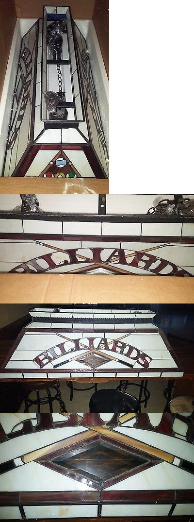 Other Billiards 1292: 7 Foot Pool Table Glass Lamps -> BUY IT NOW ONLY: $200 on eBay!