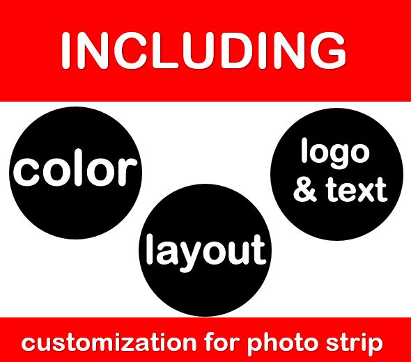 cheap photo booth hire Melbourne deal including customization for photo strip