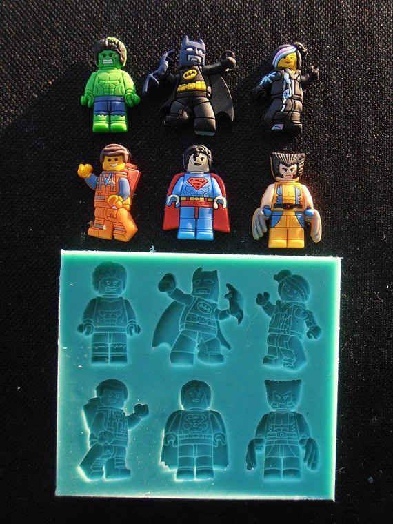 Molde De Silicona Para Decorar Tortas Héroes De Lego $15