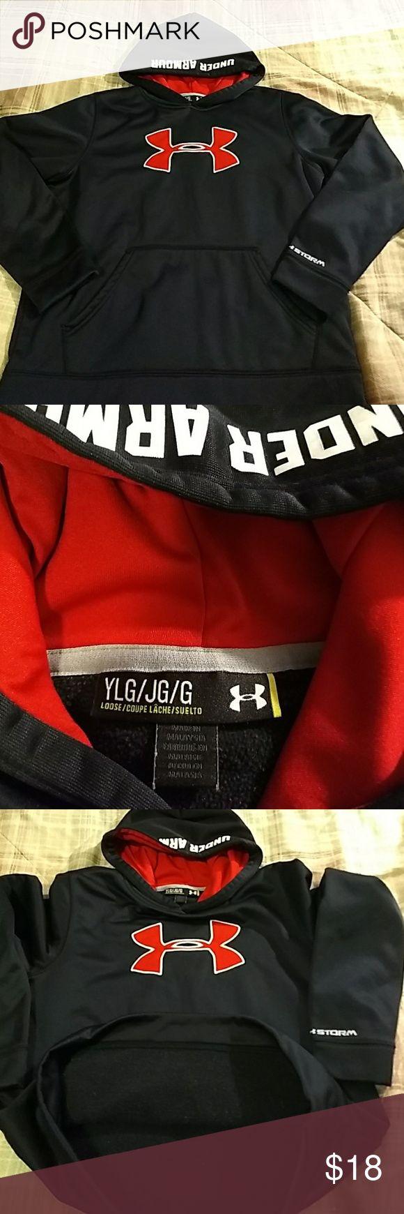 Under Armour youth lg hoodie fleece inside Under Armour youth lg hoodie fleece inside Under Armour Shirts & Tops Sweatshirts & Hoodies