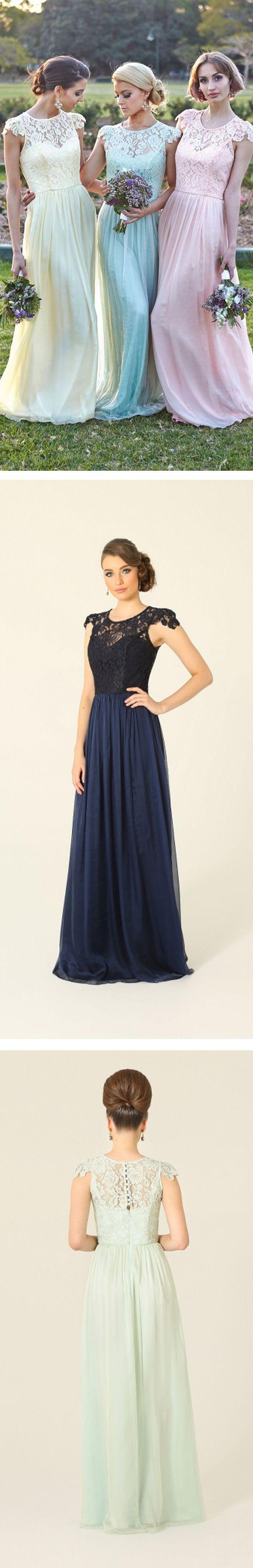 Bridesmaid dresses,long bridesmaid dresses,lace bridesmaid dresses,high quality…