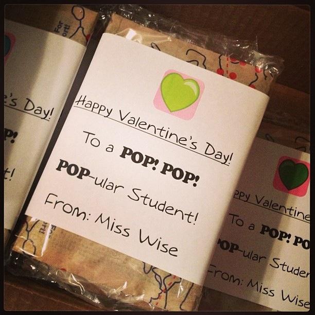 Valentine Gift FROM Teacher Preschool Valentines Day