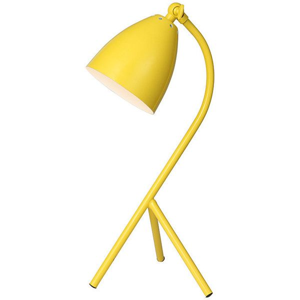 Modern Style Yellow Metal Desk Lamp ($80) ❤ liked on Polyvore featuring  home, - Best 10+ Modern Lamp Bases Ideas On Pinterest Mid Century Lamps