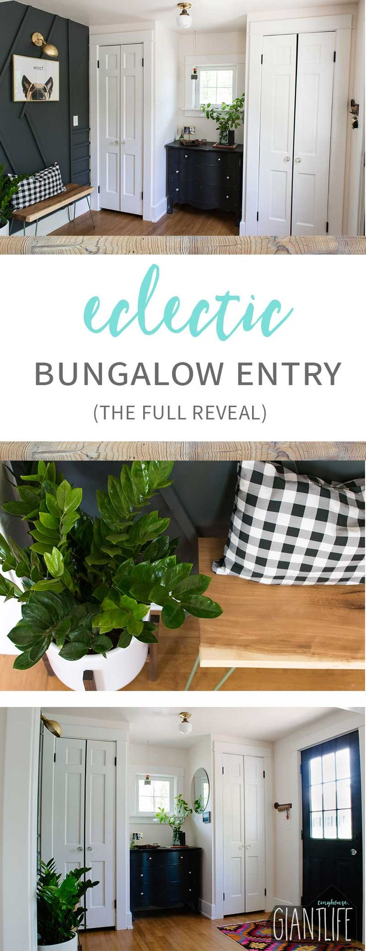 Eclectic Bungalow Entry Reveal | One Room Challenge Week 6 - Tiny House Giant Life