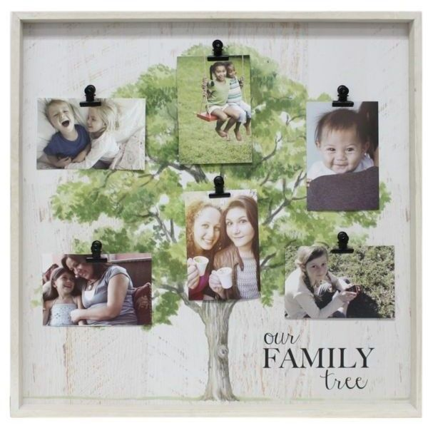 Fetco Home Decor Whitewash Our Family Tree Clip Collage (€33) found on Polyvore featuring home, home decor, whitewash and fetco home decor