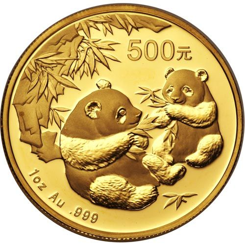 Moneda onza de oro 500 yuan China Oso Panda 2006