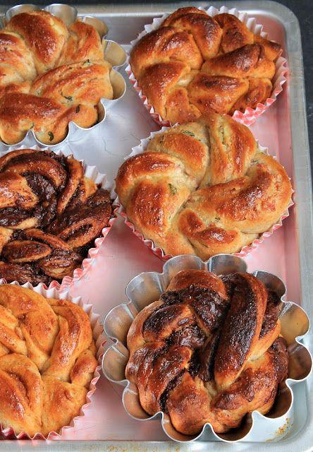 Braided Twngzhong Bread Swirls, three ways.
