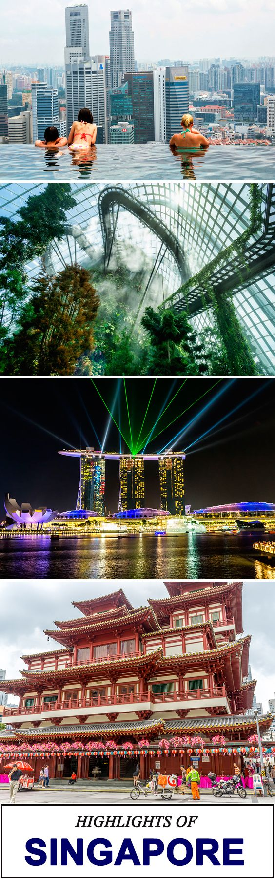 The best things to do in Singapore!   See my highlights from 3 days of wandering all around Singapore's attractions. Marina Bay Sands infinity pool, Gardens by the Bay, Marina Bay and more.