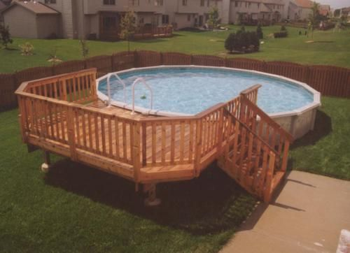 10 X 14 Deck For A 24 Pool At Menards Pool Deck Plans