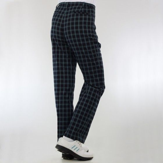 Green Lamb - Lined Check trousers-1 leg length