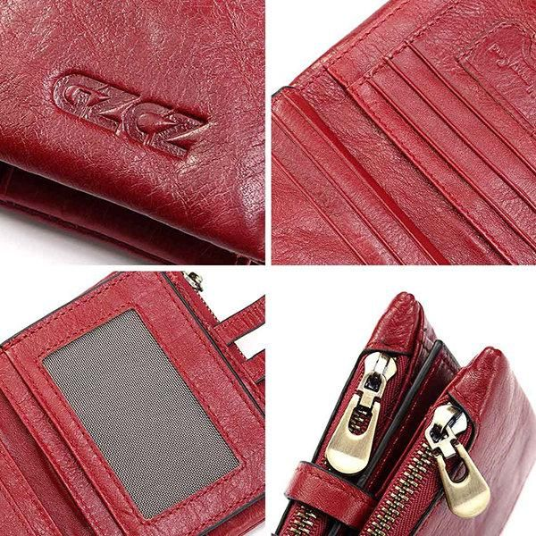 7d2fe2b2049c5c Genuine Leather Bifold Wallet Female Small Wallet Money Bag Coin ...
