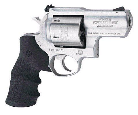Ruger Super Redhawk Alaskan .454 Casull Revolver in Satin Stainless Finish - last ditch defence for a grizzly encounter
