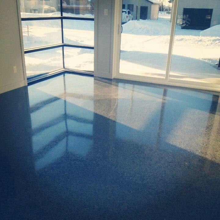 Plancher de béton poli signé beton Multi surfaces