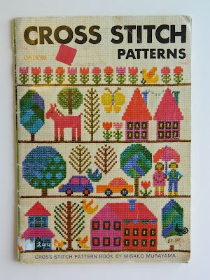 Cross Stitch Patterns book by Misako Murayama, via Alice Apple